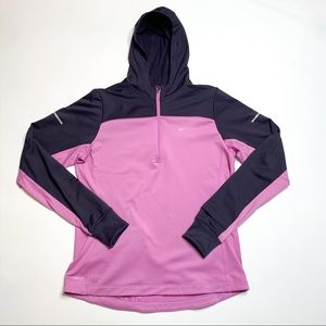 Nike Running Dri Fit Purple Hoodie, Size L